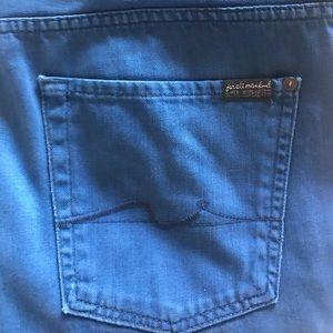 7 for all man kind men's blue jeans